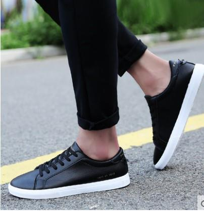 Men PU Leather Shoes Casual Shoes Me