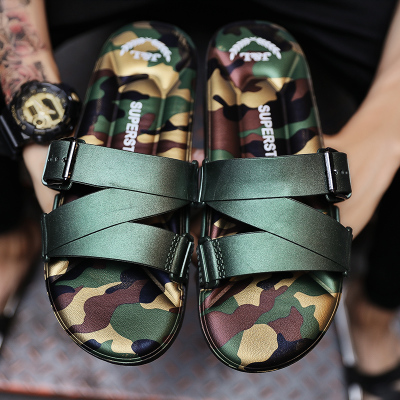 7b6c70d18a88e Men's Air Cushion Slippers Outdoor Sandals Summer Camouflage Slippers