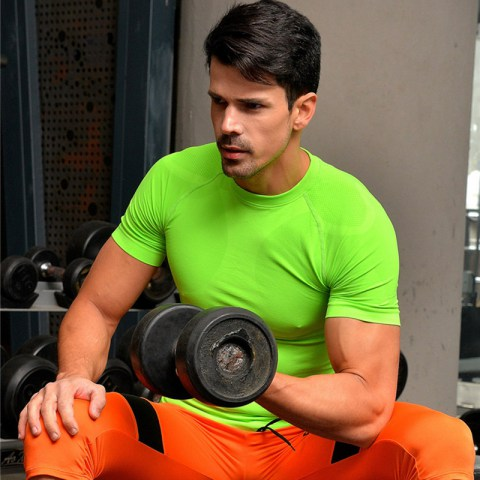 Men's Compression  Tight Breathable Gym T-shirt