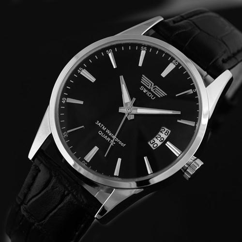 Men's Fashion Leather Quartz Watch
