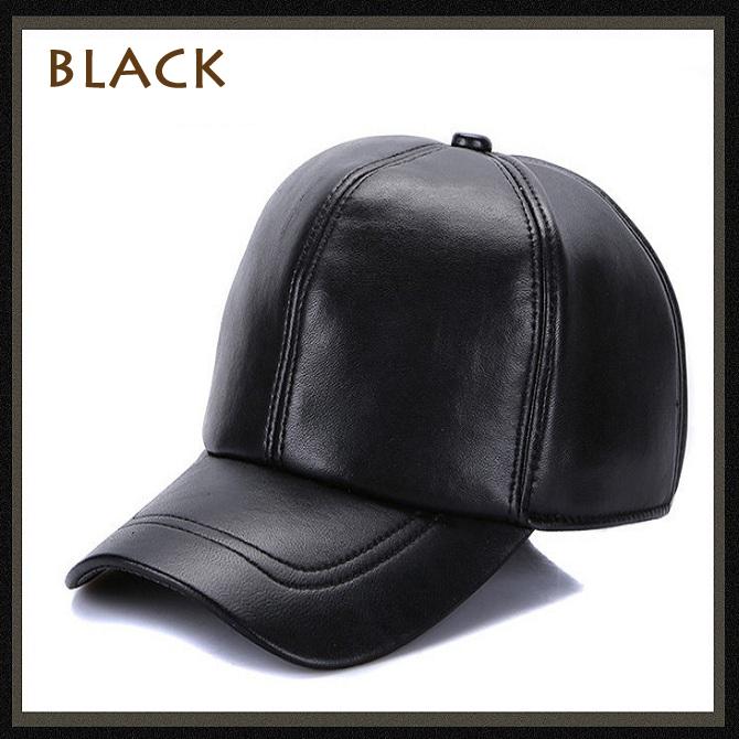 Men s Hat 2018 Winter New Style Thicken Warm Genuine Leather Baseball Caps  Sna 4e28b7793df