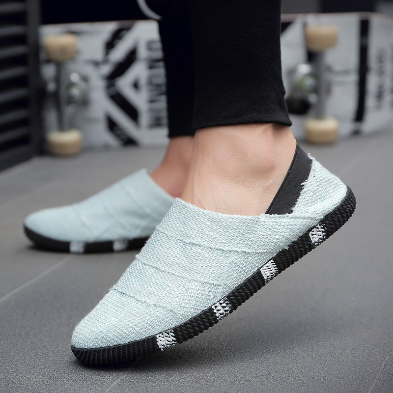 Men s Knitted Casual Shoes Daily Wear Comfort Style Lazy Peas Fashion 0a289235c3f