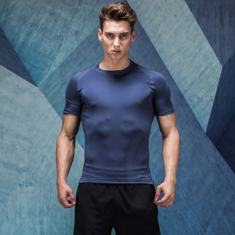 Men's Quick Dry Compression Tight Breathable Gym T-shirt