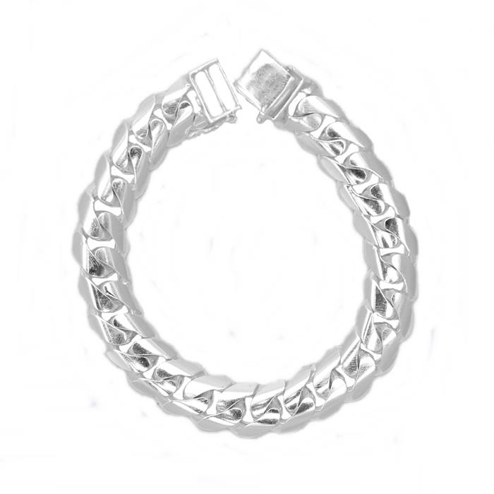 Men's Silver Bangle Curb | Bangle Lipan Silver Lelaki 45g