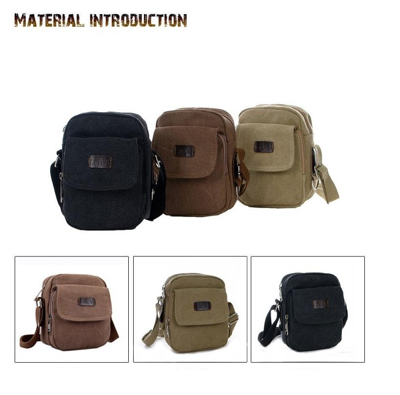 ad2041d63d251 Men´s Small Military Cotton Canvas Bag Shoulder Bag Hiking Waist Pouch