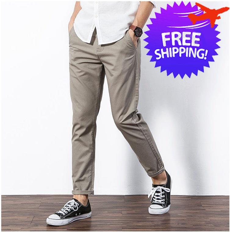 50967d0a1 Men Slim Fit Straight Cut Casual Long (end 1 6 2020 2 53 PM)