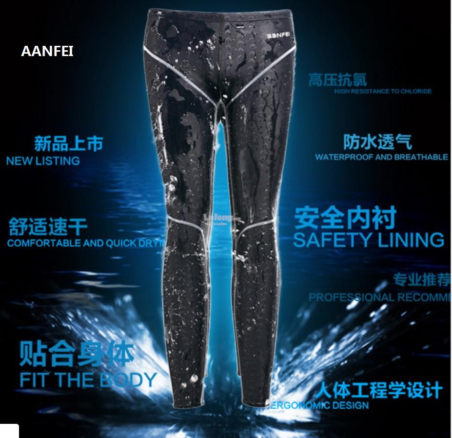 Men Swimmer Swim Long Pants Diving Snorkerling Training Pants #aanfei