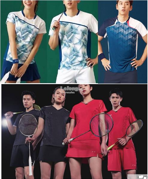 Men Women badminton racket table tennis sports jersey top shirt light