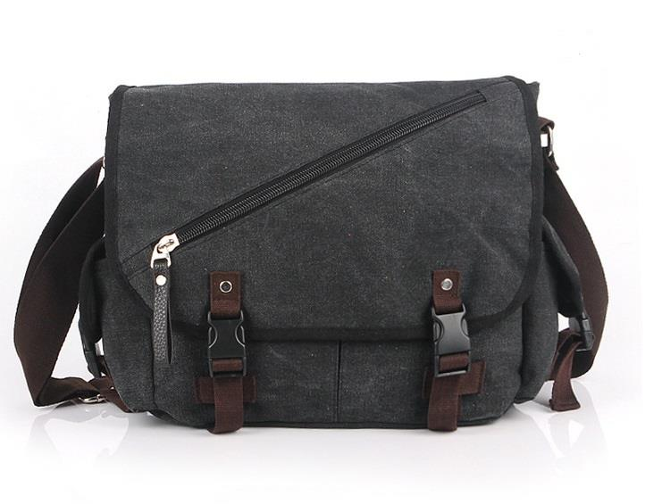 21f5f2fc3b4 Men or Women Cotton Canvas Crossbody Shoulder Messenger Bag School bag
