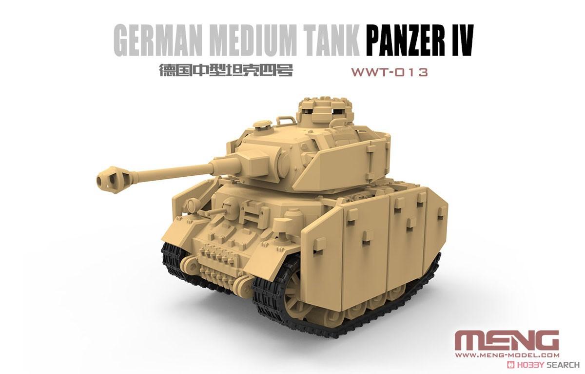 Meng Model WWT German Medium Tank Panzer IV WorldWarToons WWT-013