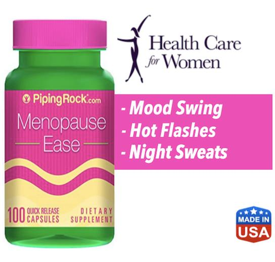 Menopause Ease, 100 Caps (Hot flashes, Night Sweat, Irregular Period)