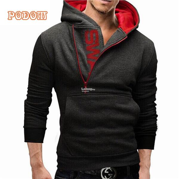 Mens Hoodie Hot Letters Logo Mens Sweater Mens Hooded Jacket Side Zi. ‹ ›