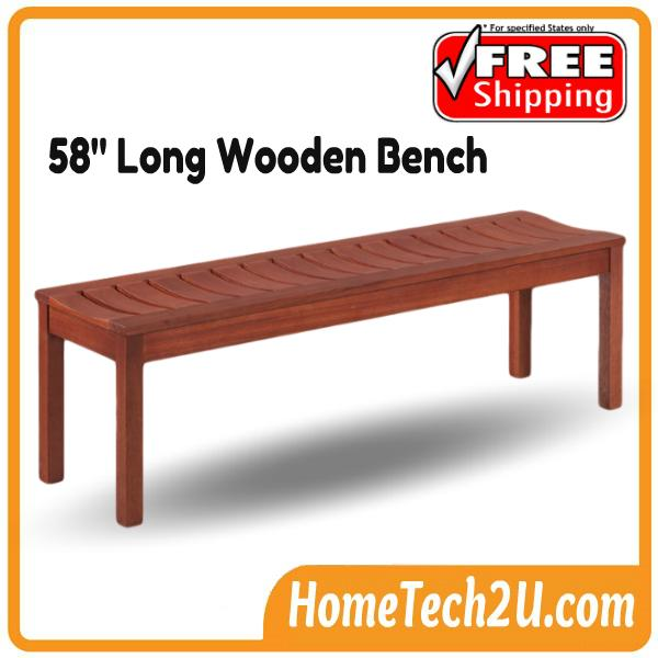 Swell Meranti 58 Long Wooden Bench Chair Free Shipping Onthecornerstone Fun Painted Chair Ideas Images Onthecornerstoneorg