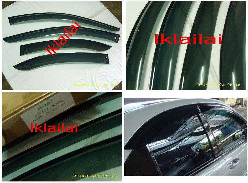 Mercedes Benz C-Class W203 '00-05 Air Press Door Visor [4pcs/set]