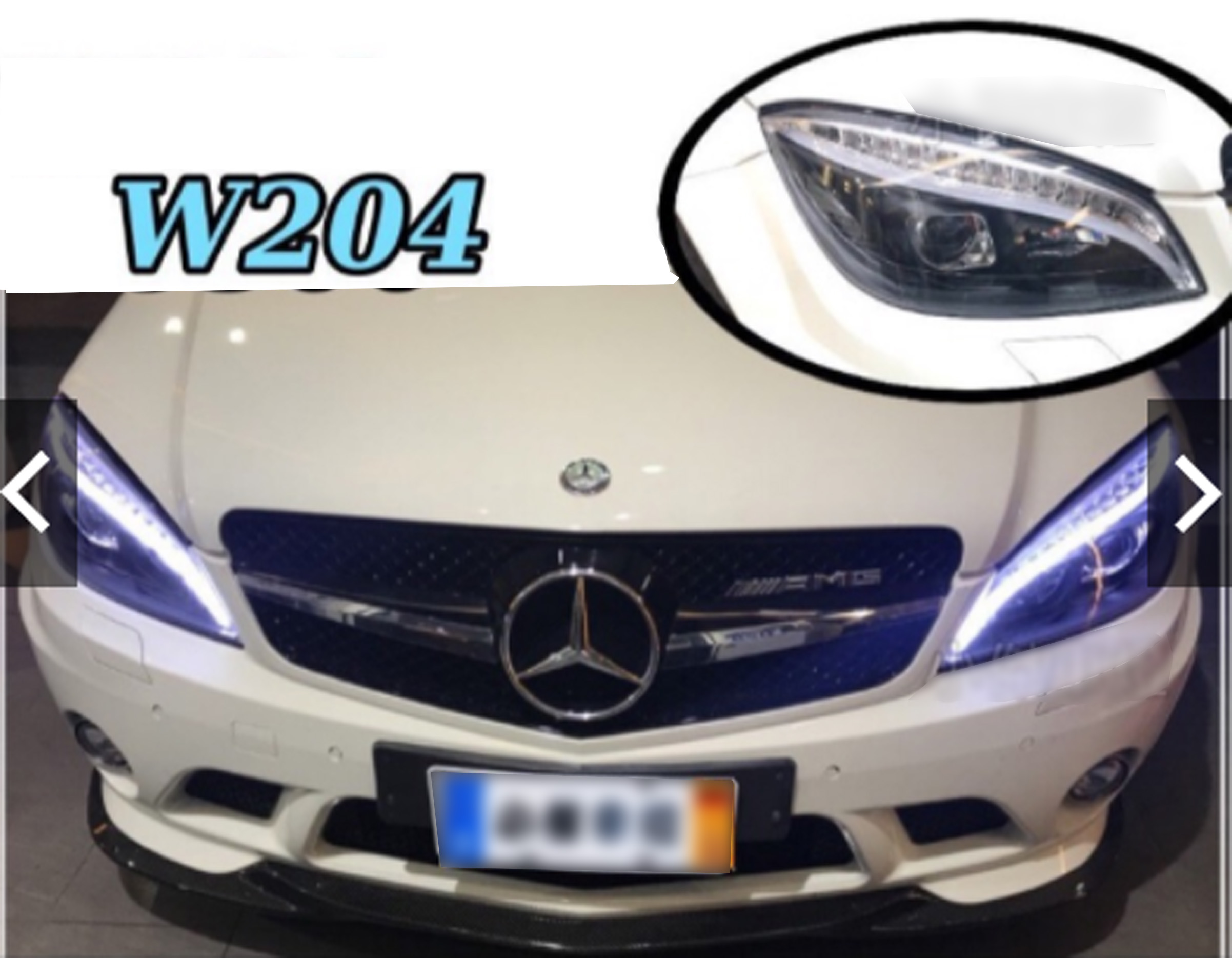 Headlight Assemblies Headligts Cover Lens for Mercedes Benz C Class