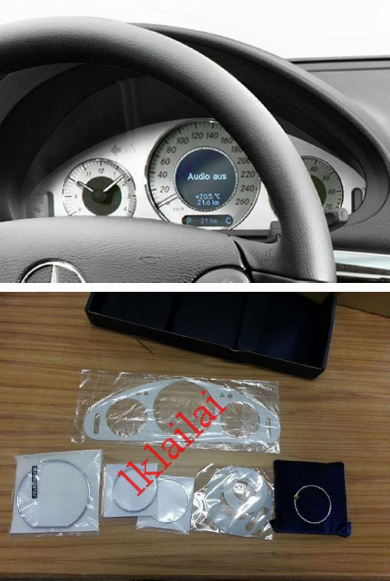 Mercedes Benz CLK W209 `03-09 Meter Panel+White Face+Rim+Crystal Rim