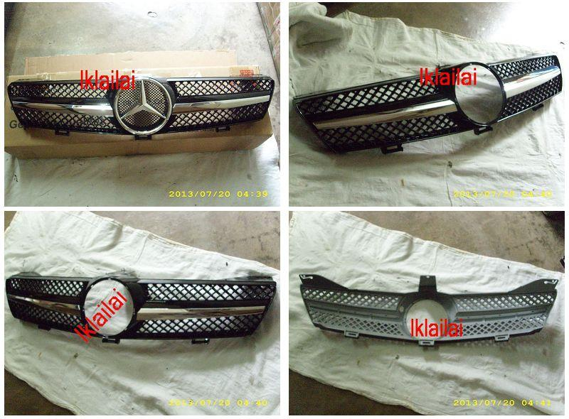 Mercedes Benz CLS W219 SL Sport Front Grille All Black
