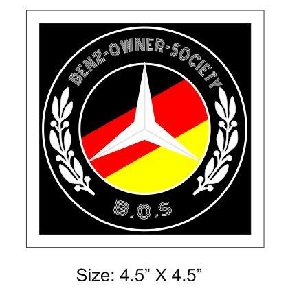 Mercedes Benz Owner Club Society Windscreen Sticker (BOS)
