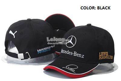 Mercedes Benz PUMA Champion Lewis Hamilton Signature LOGO Podium Cap 47abbb6a28a