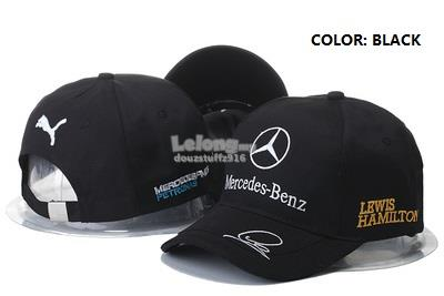 MERCEDES BENZ PUMA Formula One Car Racing Lewis Hamilton Baseball Cap b477ebc875a