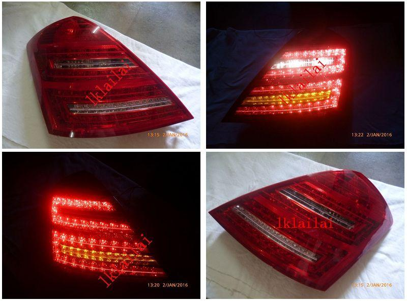 Mercedes Benz S-Class W221 '06 Tail Lamp Crystal LED Red/Clear