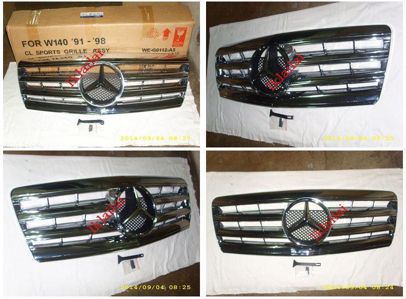 Mercedes Benz W140 `94-97 CL Sport Grille [Chrome/White/Silver/Black]