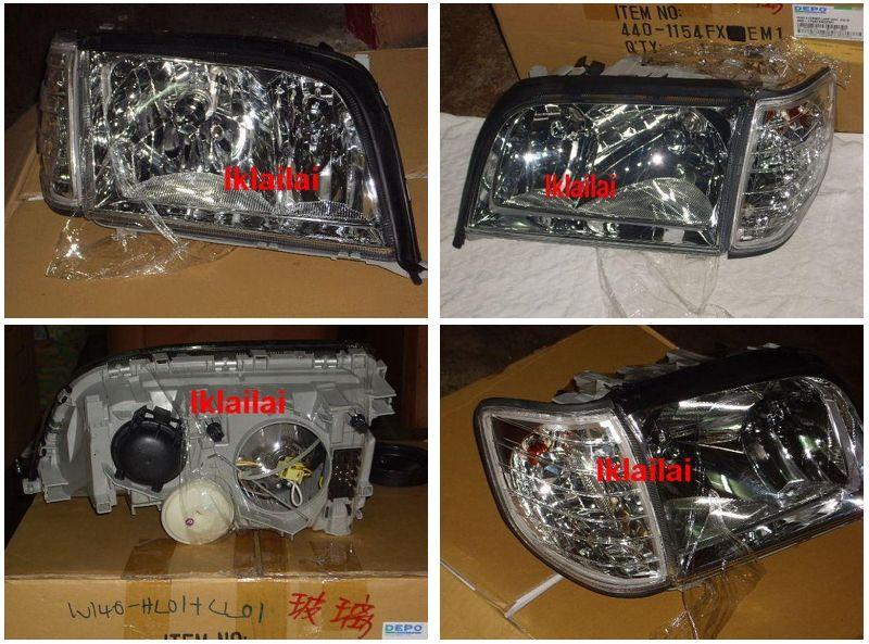 Mercedes Benz W140 `94-97 HEAD LAMP CRYSTAL GLASS LENS W/ VACUUM