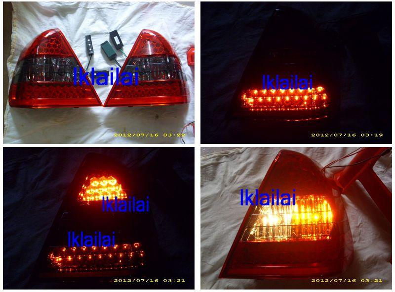 Mercedes Benz W202 `94-99 LED Tail Lamp RED/SMOKE [W202-RL04-U]