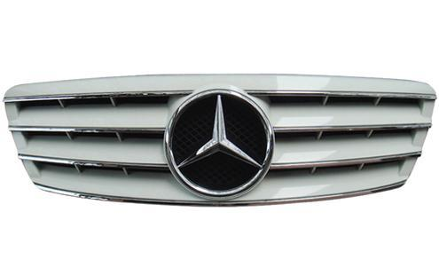 Mercedes Benz W203 `00-06 Front Grille CL Style Black/Silver/White/Chr