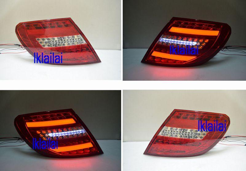 Mercedes Benz W204 '07-10 LED Light Bar Tail Lamp [Red/Clear]