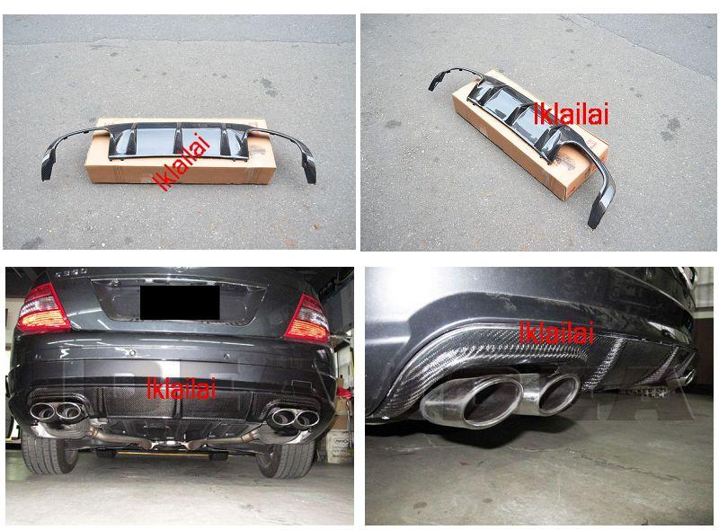 Mercedes Benz W204 '07/'12 Rear Bumper Diffuser Carbon AMG Style