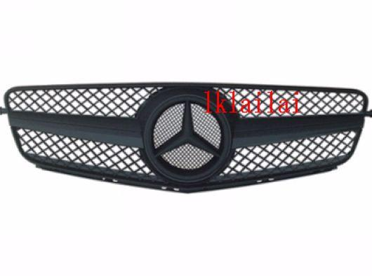 Mercedes Benz W204 `07 Sport Grille SL Type Leather Black [W204-FG01A-