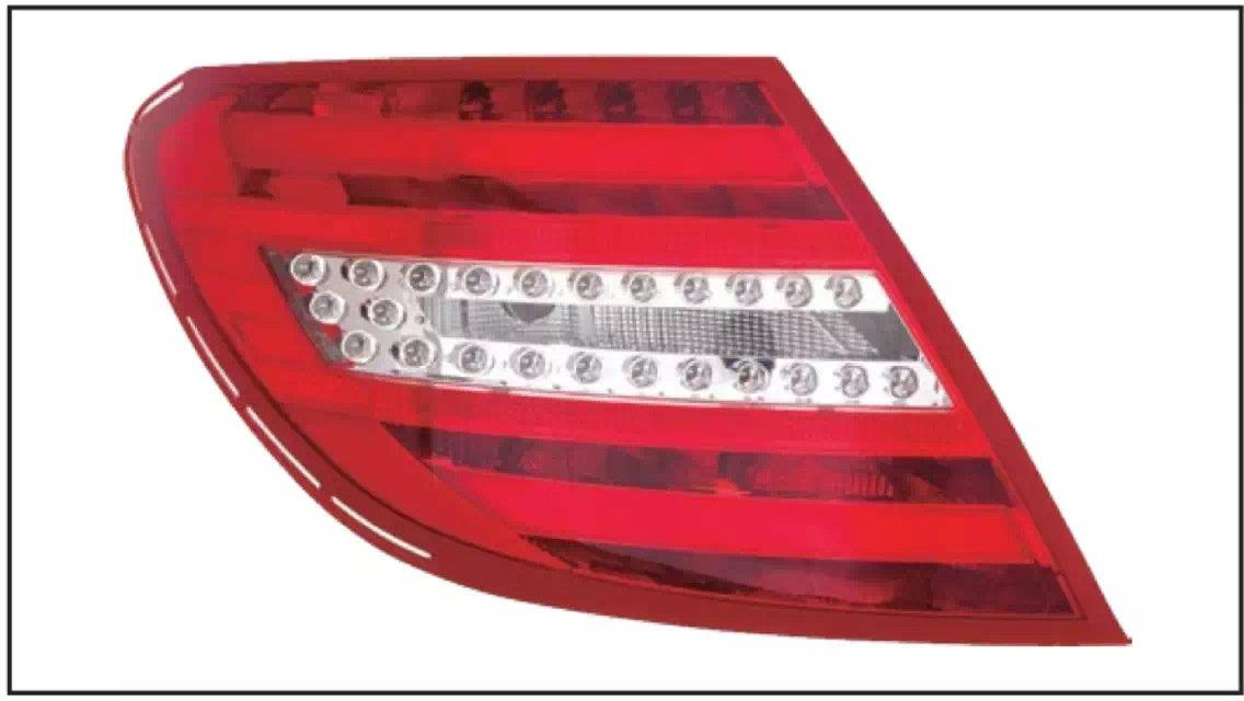 MERCEDES BENZ W204 2007 REAR LAMP CRYSTAL LED RED / CLEAR