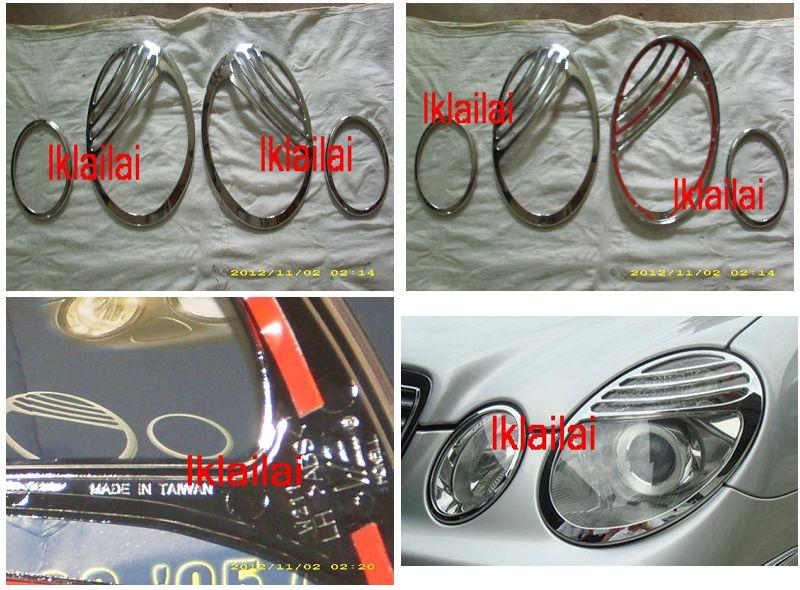 Mercedes Benz W211 '03-09 Head Lamp Rim Chrome Facelift Look [4pcs/set