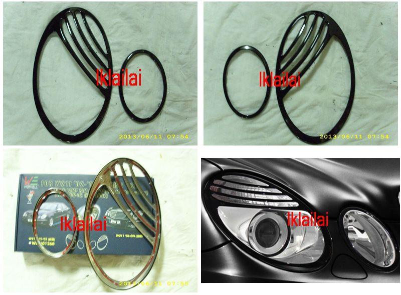 Mercedes Benz W211 '03-09 Head Lamp Rim Facelift Look [4pcs/set]
