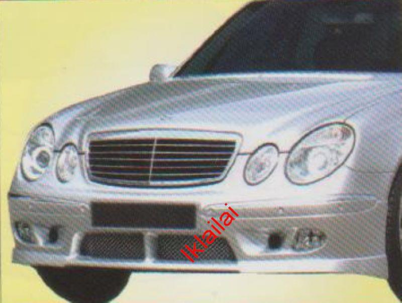 Mercedes Benz W211 Front Skirt Modify-in with Ori Bumper