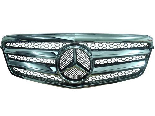 Mercedes Benz W212 `09-10 Front Grille SL Style [Black/Silver/White/Ch