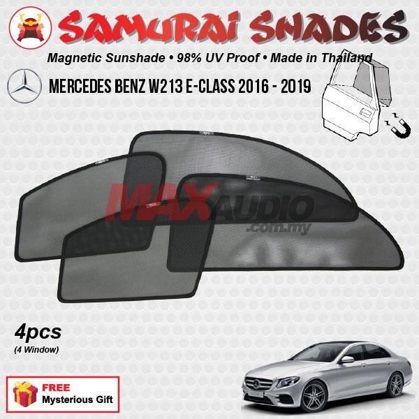 MERCEDES BENZ W213 E-Class 2016-19 SAMURAI SHADES Magnetic Sun Shades