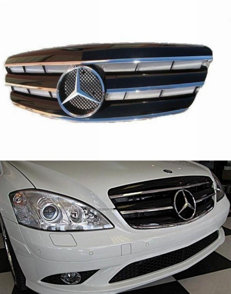 Mercedes Benz W221 '06-09  Front Grille Black