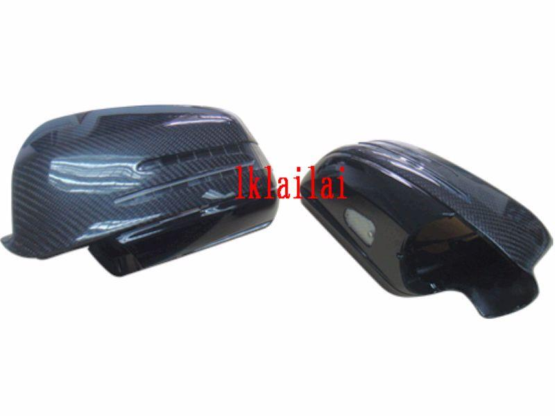 Mercedes Benz W221 '06 & 10 Door Mirror Cover Arrow Style Carbon Fiber