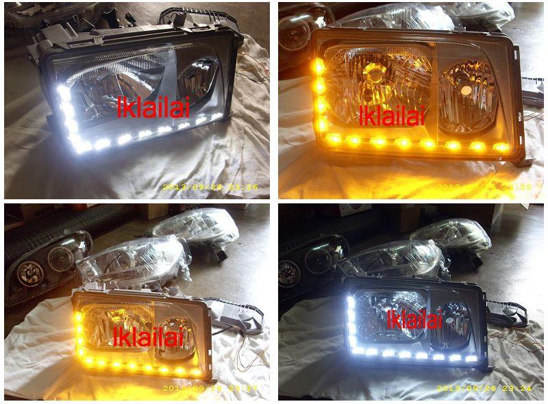 Mercedes W124 86-95 Crystal Head + Corner Lamp 2-Function DRL