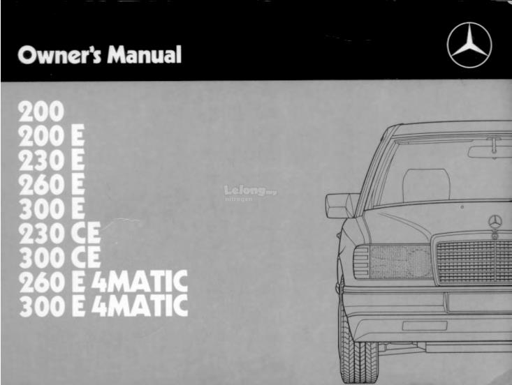 mercedes w124 owners manual 1985 to end 10 8 2016 5 15 am rh lelong com my w124 250d owners manual w124 250d owners manual