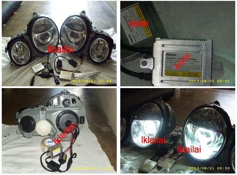 Mercedes W210 Projector Head Lamp + Can-Bus HID Conversion Kit