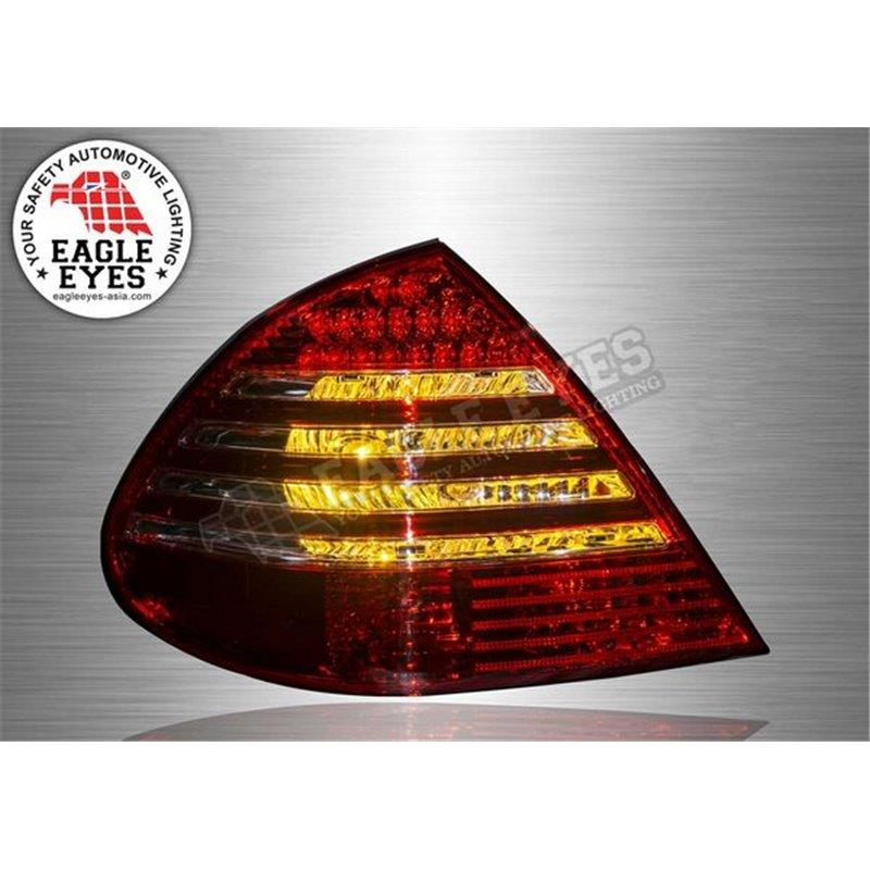MERCEDES W211 E-Class 2003-09 EAGLE EYES Red&Clear Lens LED Tail Lamp