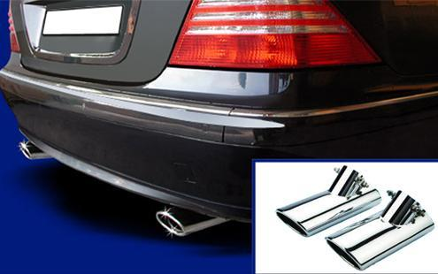 Mercedes W220 `98-`05 Muffler Tip 1 X 2 S/Steel ( 2pcs/set )[W220-SP01