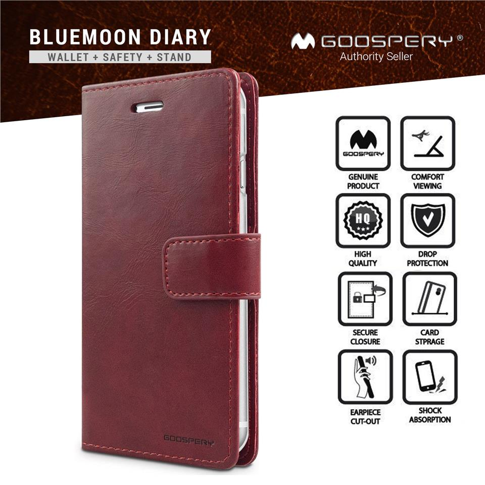 Mercury Bluemoon Flip Cover Xiaomi Redmi Note 4 Wine Daftar Harga Goospery 4x Canvas Diary Case Blue Moon Iphone X Pu Leather Wallet