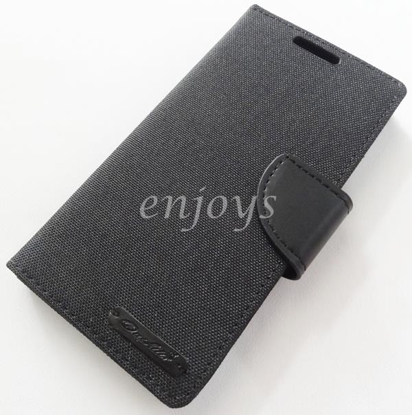 Mercury Canvas Diary Case Cover Sony Xperia Z5 /E6683 E6653 BLACK *XPD