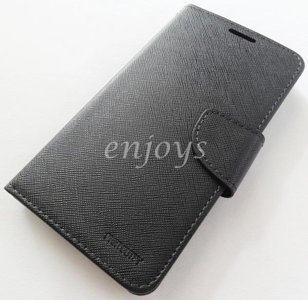 MERCURY Fancy Diary Book Case Asus Zenfone 2 (5.0) ZE500CL ~BLACK *XPD