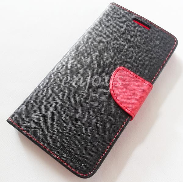 MERCURY Fancy Diary Book Case Cover Oppo F1 Plus /R9 (5.5) ~BLACK *XPD
