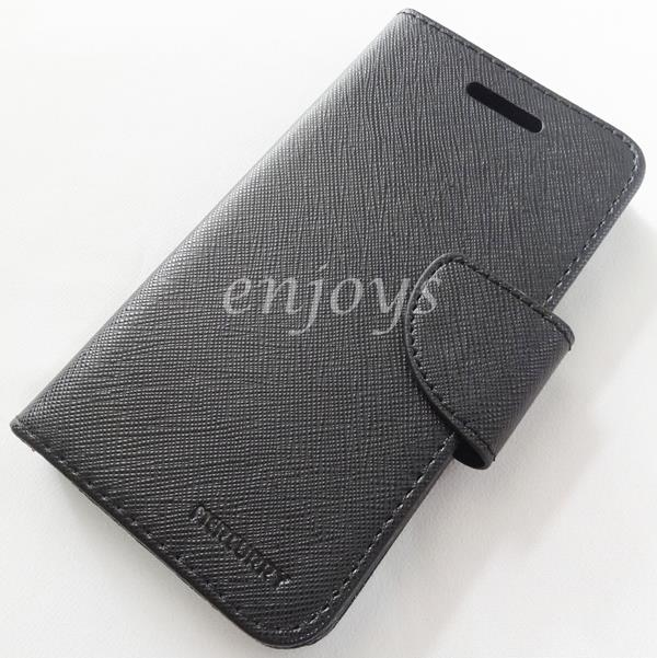 MERCURY Fancy Diary Book Case Cover Oppo Neo R831 R831T ~BLACK *XPD